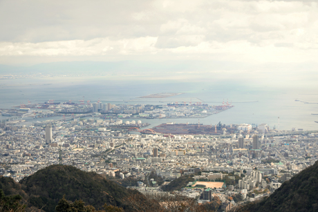 鉢巻展望台からの景色